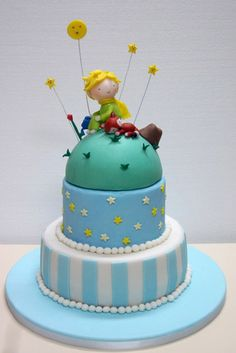 The Little Prince themed cake Little Prince Party, The Little Prince, Prince Cake, Storybook Baby Shower, Pastel Cakes, Coffee Cupcakes, Fondant Tips, Just Cakes, Fancy Cakes