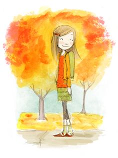 Abigail Halpin - portfolio piece - I love her use of color in this.