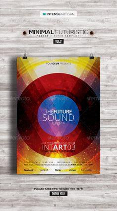 Minimal - Futuristic Poster   Flyer V.2
