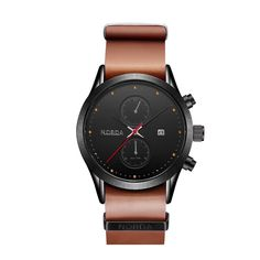 Happy Deal $6.99, Buy NOBDA 6008 Brand Luxury Top Watch Men Genuine Leather Quartz Sports men Watch 2017 Military Fashion Clock Ips Men Wrist Watch