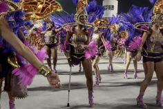 Mar. 1, 2014. Revelers of the Nene de Vila Matilde samba school perform during the second night of carnival parade at the Sambadrome in Sao Paulo, Brazil.