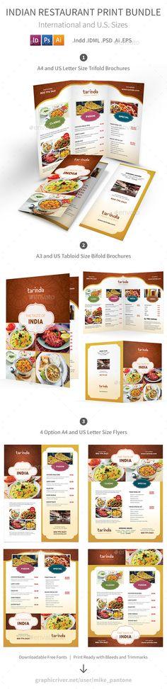 Indian Restaurant Menu Print Bundle - Food Menus Print Templates Download here : https://graphicriver.net/item/indian-restaurant-menu-print-bundle/19289137?s_rank=70&ref=Al-fatih