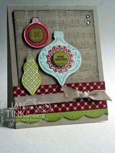 Stamps, Paper, Scissors: Ornament Keepsakes