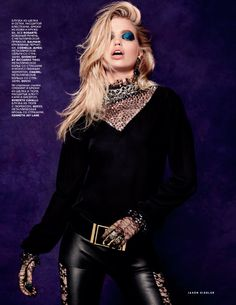 VOGUE RUSSIA AUGUST 2015 Daphne Groeneveld by Jason Kibbler   Styled by Olga Dunina