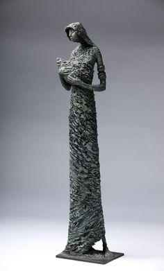 Tall and thin Bob Quinn, Minimalist Furniture, Sick Kids, Small Words, Contemporary Sculpture, Garden Sculpture, Sculpture Ideas, Ceramic Art, Strong Women