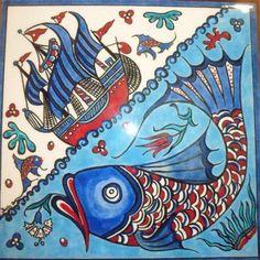 kalyon Tile Art, Mosaic Tiles, Batik Pattern, Z Arts, Turkish Art, Nautical Art, Happy Art, Colorful Pictures, Indian Art