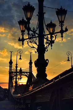 Budapest at sundown Liberty Bridge, Capital Of Hungary, Hungary Travel, Heart Of Europe, Central Europe, Most Beautiful Cities, Wonders Of The World, Scenery, Places To Visit