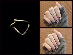 chevron knuckle ring https://www.facebook.com/simplyshapedjewelry