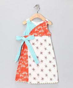 Loving this Playground Flannel Wrap Dress - Infant on #zulily! #zulilyfinds