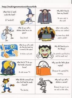 Print, cut and Laugh! Halloween jokes lunch box notes (free printable)