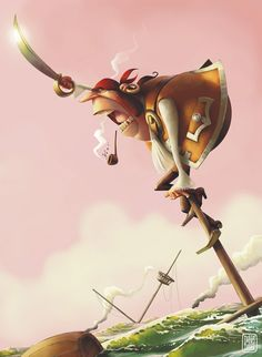 Pirate Illustration #pirate #illustration