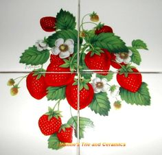 strawberry kitchen ceramic tiles | Your feedback is submitted. Thank you for helping us improve. Tell us ...