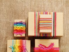 Wrap your gifts with yarn! Come in for a demo Saturday, December 22nd!