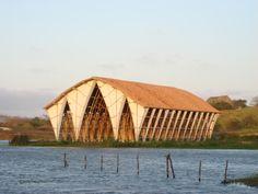 Bamboo Built Church in Columbia by pioneer Bamboo Architect Simon Velez