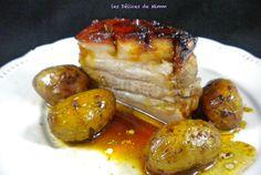 Poitrine de porc confite au miel et ses pommes grenailles 4