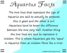 Aquarius... Good & Evil oh we know so well, walk strickly inbetween the two never crossing judment