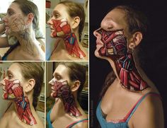 Anatomical body art by Danny Quirk ...