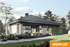 DOM.PL™ - Projekt domu AN KONICZYNKA G2 CE - DOM AO8-58 - gotowy koszt budowy Malaga, Gazebo, House Plans, New Homes, Outdoor Structures, How To Plan, Outdoor Decor, Home Decor, Build House