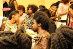 a bevy of naturalista's at Fro Fashion Week NYC