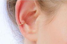 PINJEAS Fake ear piercing earrings handmade simple faux cuff ear clip on earrings gothic cartilage jewelry gift for women #Affiliate