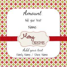 Printable Christmas Gift Certificate Template