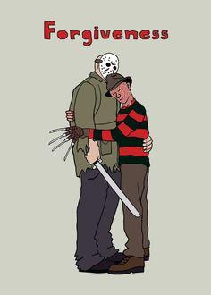 Mike Joos illustration #Jason #Freddy