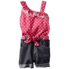 Baby girl clothes#39% discount#Little Lass Baby-Girls Newborn 1 Piece Romper with Ruffle Collar, Fuchsia, 6/9 Months