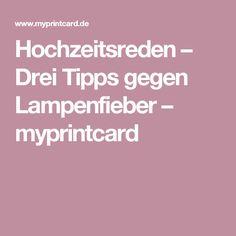 Hochzeitsreden – Drei Tipps gegen Lampenfieber – myprintcard