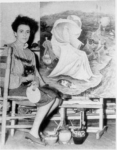 Leonora Carrington with cat,  http://materialconcern.com/wp-content/uploads/2012/09/leonora911.jpeg