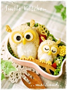 Owl Kyaraben, Character Bento Boxed Lunch by Mai*Mai