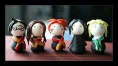 :: : Harry Potter, Hermione Granger, Ron Weasley, Severus Snape, Draco Malfoy : :: They are made of FIMO clay.