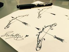 Bow and arrow sketch. Artist Sutattoo .For appointments with Su ,kindly email her at exotic@exotictattoopiercing.com https://www.pinterest.com/sutattoo/ https://www.facebook.com/Exotic-Tattoos-and-Piercings-418666600080/ https://www.youtube.com/channel/UCY5J83bWVuiEY4JCp31Ecrg?disable_polymer=true https://www.instagram.com/sutattoo/?hl=en https://twitter.com/sutattoo http://exoticpiercing.tattoo/ http://www.sutattoo.com/ https://tattoocloud.com/users/6739/tattoos#  #sutattoo #johnnytwo