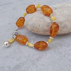 Copal Amber, Baltic Amber & Sterling Silver Bracelet £28.00