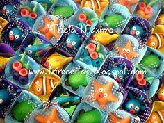 CHEIRINHO DE COISA BOA - Bolos decorados em Porto Alegre: Docinhos Modelados (bichinhos do fundo do mar)
