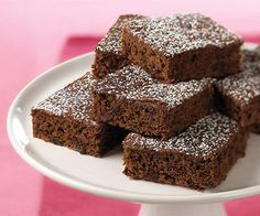 Not sure how they are guilt free...but...Guilt-Free Double Chocolate Brownies - Fitnessmagazine.com