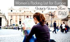 What to Wear in Rome  - What should I bring?