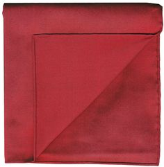 Dark Red Shot Thai Silk Pocket Square #6