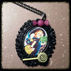 How adorable is this?! Available now!  #trickortreat #halloween #witch #costume #necklace #cute #spook #vintage