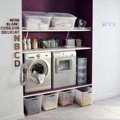 Interior: Sears Wash Machines With Wall Mount Dresser Also Under Cabinet Lighting For Laundry Room Laundry Closet, Laundry In Bathroom, Bathroom Closet, Small Laundry, Interior Design Living Room, Living Room Designs, Home Organisation, Under Cabinet Lighting, Laundry Room Design