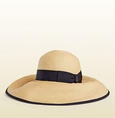 Gucci - natural straw wide-brimmed hat 370639GJD3G9671
