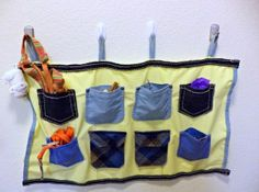 How to make a recycled pocket wall organizer – Recycled Crafts