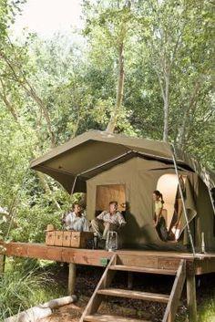 Estas carpas fijas son rusticas pero, son una buena alternativa para acampar. #camping