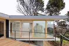 shogo aratani sets krampon house within rugged terrain of hyogo, japan