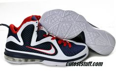 new arrival bbc72 e661f Basketball Cheap Lebron 9 Shoes Navy Red White 469764 101 Nike Lebron, Lebron  9 Shoes