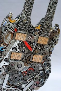 One for George jr. ---  Found Object Guitar by Brian Mock