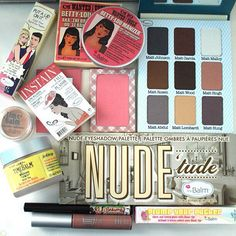 #makeup #cosmetics #palette the balm cosmetic