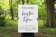 Unplugged Wedding Welcome Sign, Printable Welcome Sign, Unplugged Ceremony, Digital Download, Wedding Welcome Sign RILEY