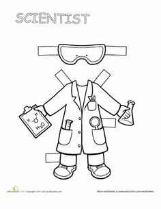 Worksheets: Career Paper Dolls: Scientist