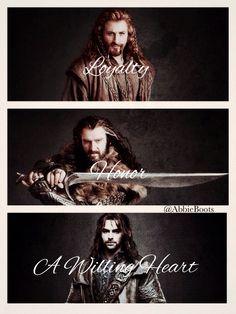 Thorin son of Thrain son of Thror King under the Mountain, Fili and Kili