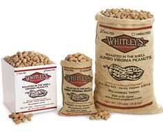 Roasted in the shell Virginia peanuts - Whitley's Peanut Factory
